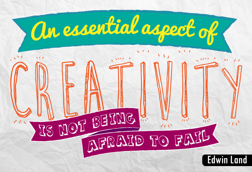 """An essential aspect of creativity is not being afraid to fail."""