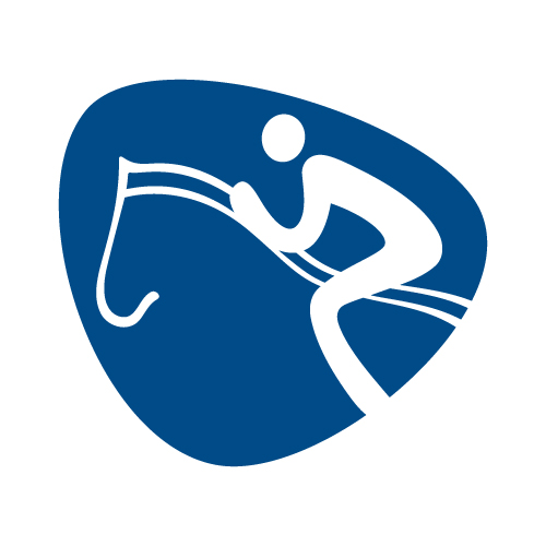Equestrian jumping pictogram