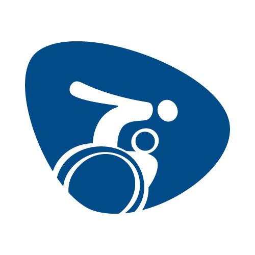 Wheelchair rugby pictogram